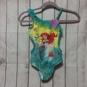 Disney Story Little Mermaid Bathing Suit Girls 7/8